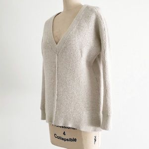 FREE PEOPLE | Gray Wool V Neck Pullover Sweater